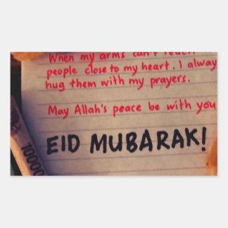 eid-Mubarak Pegatina Rectangular