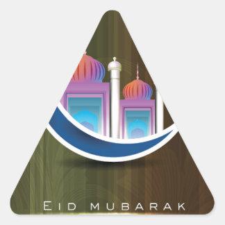 Eid Mubarak Pegatina Triangular
