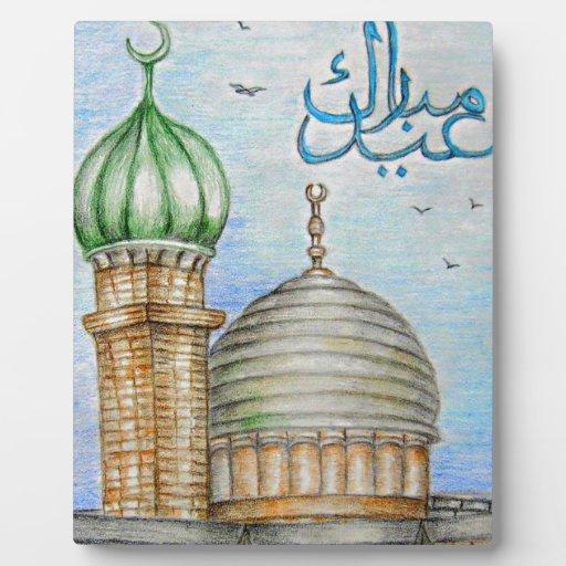 eid Mubarak Placa Para Mostrar