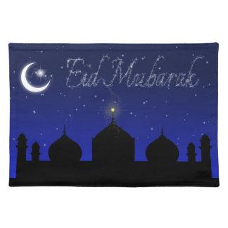 Eid Mubarak - Placemat de saludo islámico Manteles