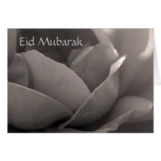 Eid Mubarak - rose card in b&w