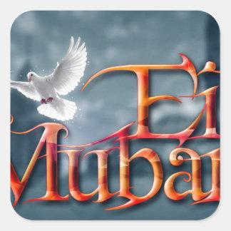 Eid-Mubarak. Square Sticker