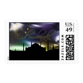 Eid mubarak stamp postage