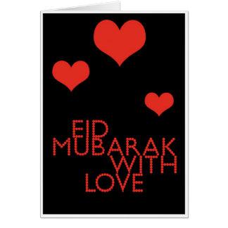 eid mubarak with love cards