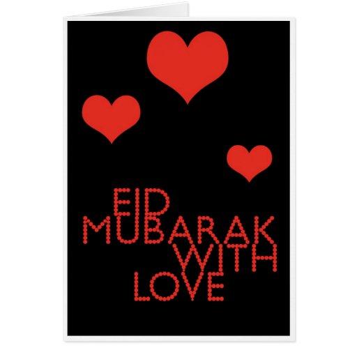 eid mubarak with love card Zazzle