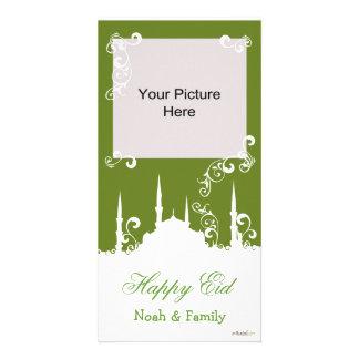 Eid White Swirl Photo Cards