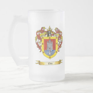 Eida Shield of Arms Frosted Glass Beer Mug