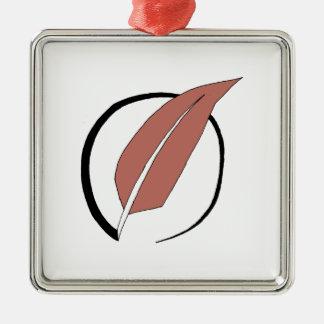 Eiderdown logo metal ornament
