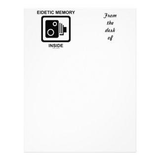 Eidetic Memory Inside (Camera Sign Photographic) Letterhead