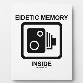 Eidetic Memory Inside (Camera Sign Photographic) Plaque