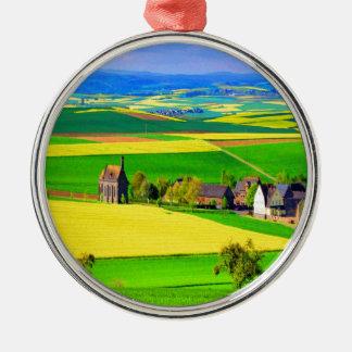 Eifel del paisaje de la violación de semilla ornamento para reyes magos