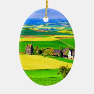 Eifel del paisaje de la violación de semilla ornamentos para reyes magos