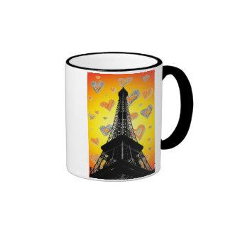 Eifel Tower Hearts Mug
