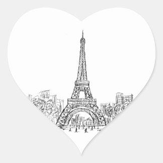 Eifel Tower Paris Heart Sticker