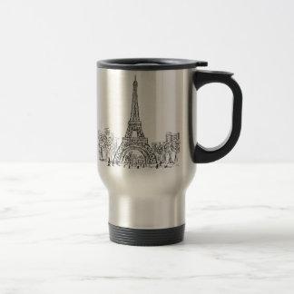 Eifel Tower Paris 15 Oz Stainless Steel Travel Mug