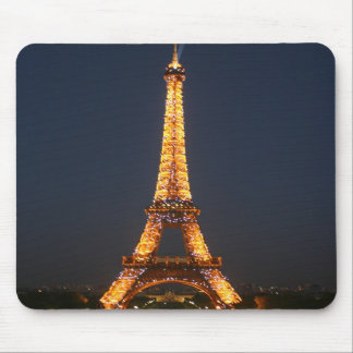 Eiffel at night mouse mat