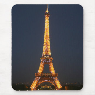 Eiffel at night mouse pad