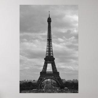 Eiffel blanco y negro impresiones
