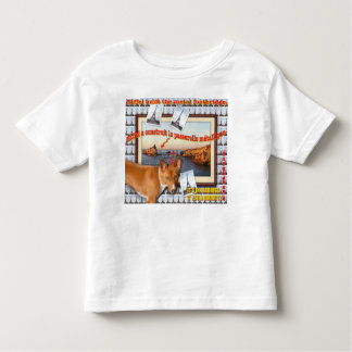 Eiffel built the metal footbridge. toddler t-shirt