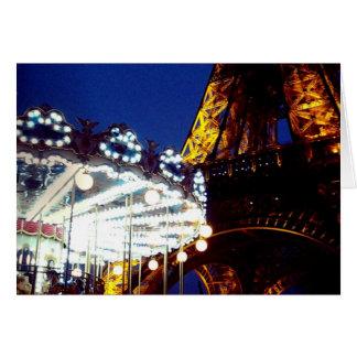 Eiffel Carousel Greeting Card