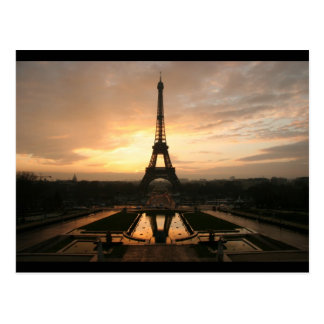 eiffel dawn view postcard