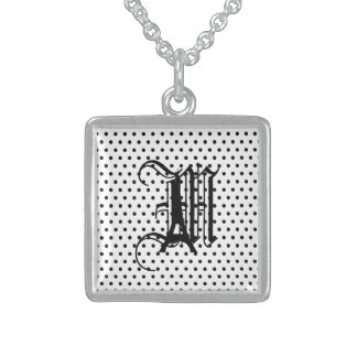 eiffel  dots2b.ai sterling silver necklace