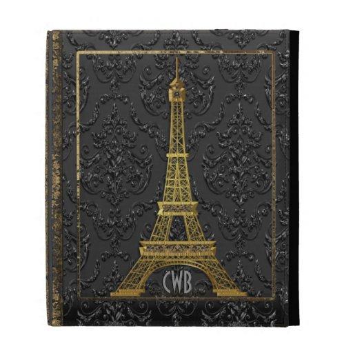 Simple Elegant Book Covers : Eiffel elegant old book style ipad folio covers zazzle