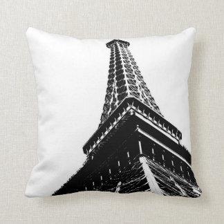 Eiffel en blanco cojines