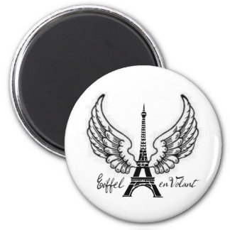 EIFFEL EN VOLANT WINGED TOWER PRINT REFRIGERATOR MAGNETS
