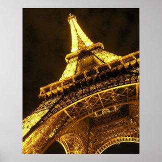 Eiffel Illuminated Poster
