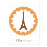 Eiffel in love... postcard