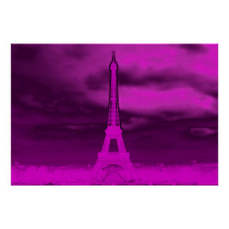 Eiffel in Pink Poster