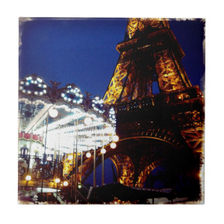Eiffel Nights Small Square Tile