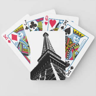 Eiffel on White Bicycle Playing Cards