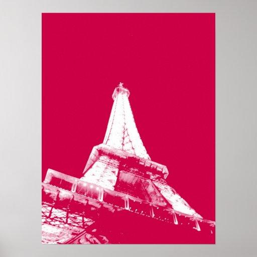 Eiffel rojo poster