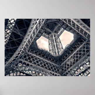 Eiffel Steel Framed Print