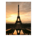eiffel sunrise postcard