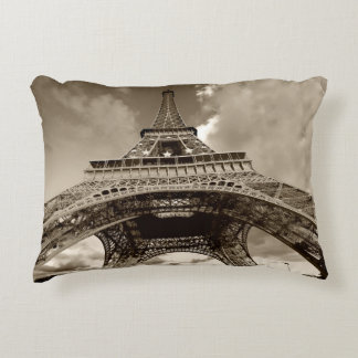 Eiffel to tower decorative pillow