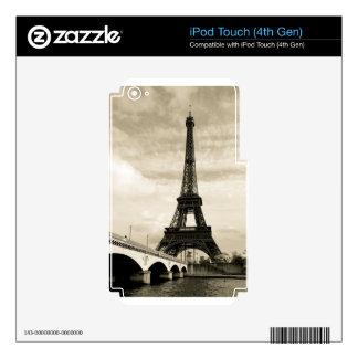 Eiffel tour iPod touch 4G decals