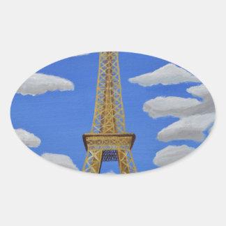 Eiffel Tower2.JPG Pegatina Ovalada