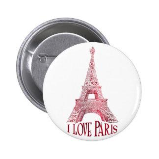 Eiffel tower 2 inch round button