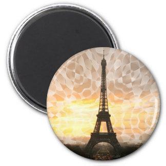 Eiffel Tower 2 Inch Round Magnet