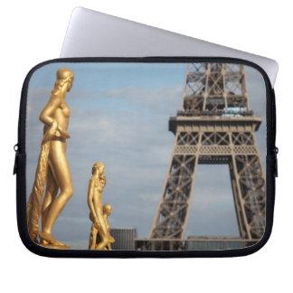 Eiffel tower 2 laptop computer sleeve