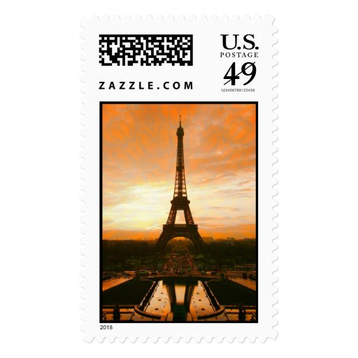Eiffel Tower#2 Postage Stamps