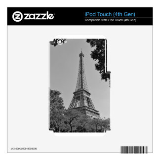 Eiffel Tower 4 Decals For iPod Touch 4G