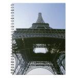eiffel tower 4 spiral notebook