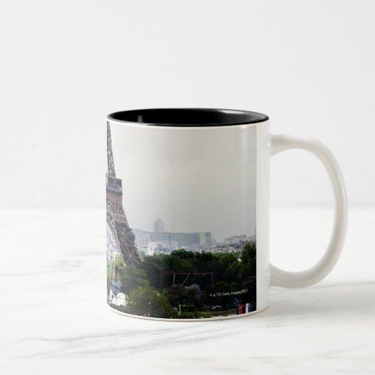Eiffel Tower 4 Two-Tone Coffee Mug