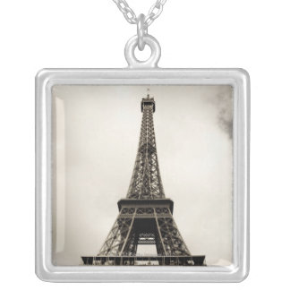Eiffel Tower 8 Silver Plated Necklace