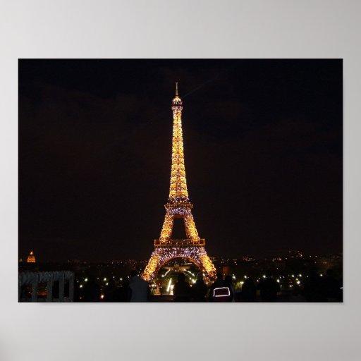 Eiffel Tower After Dark Print