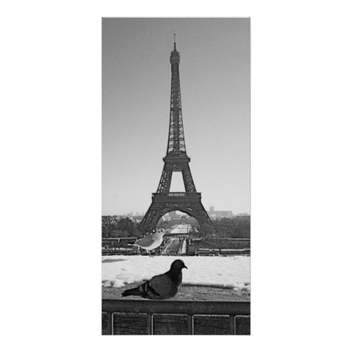 Eiffel Tower and Bird Posters